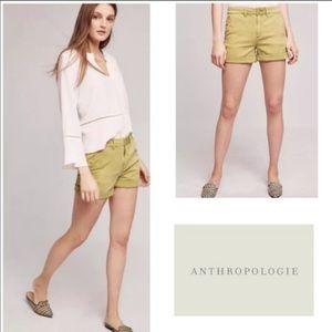 Anthropologie Chino shorts - Green Khaki